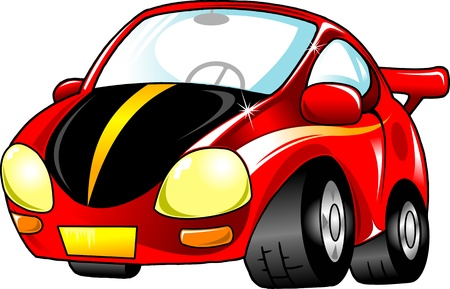 Red toy car  The new sports model Stock Vector - 13310758