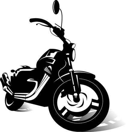 rally: black sports bike  vector illustration ;
