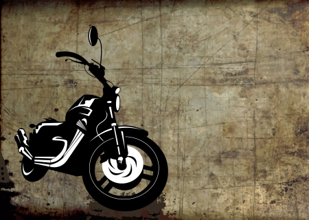 black sport bike on a gray background  vector illustration ;