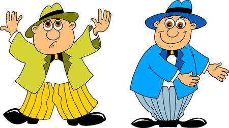 abandono: gracioso hombre y el hombre se niega a invitar ilustraci�n, vector; Vectores