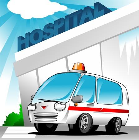 equipe medica: sfondo, parte di una serie soccorritore; versione notte illuminato anche disponibile;