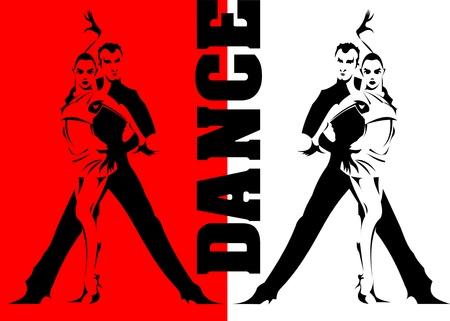 paren dansen sporten dansen Vector Illustratie
