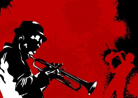 Abstracte muziek achtergrond voor muziek evenement, ontwerpen, vector illustratie;