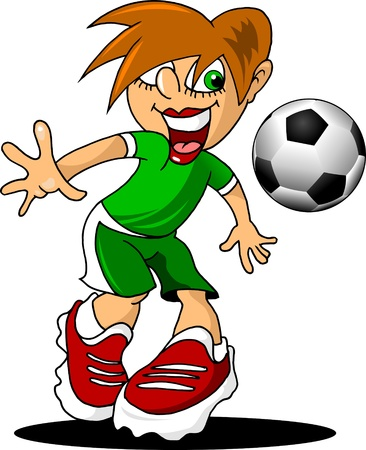 odds: cheerful footballer takes the ball   Illustration