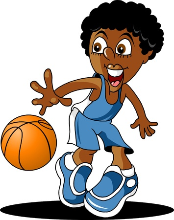 dribble: player in basketball at the background of basketball rings