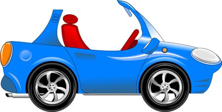 exotic car: blue toy car  The new sports model  vector-illustration ; Illustration