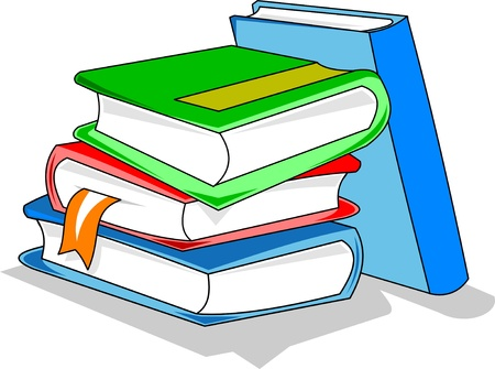 several books with colored covers  vector illustration ;  Vector