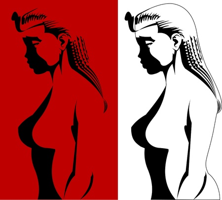 cleopatra: vector illustrations with ancient Egypt theme - a beautiful girl