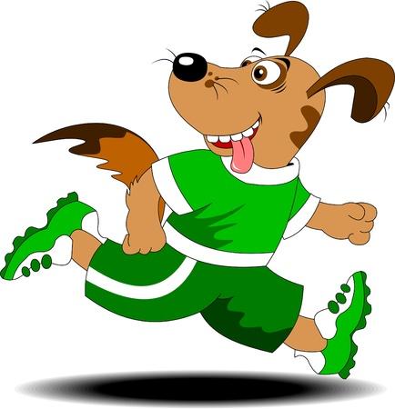 陽気な犬はレース A ベクトル図を実行に関連します。  イラスト・ベクター素材