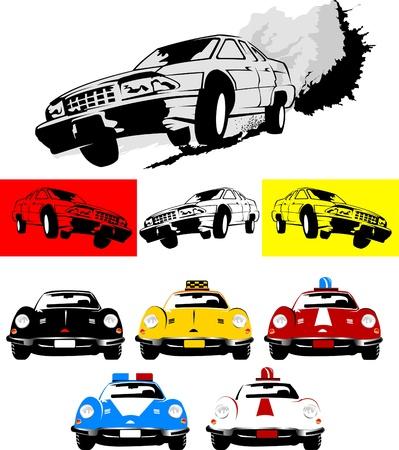 demolition: poster of the car monster truck vector-illustration