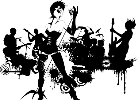 music event: Abstract music background for music event design  illustration Illustration