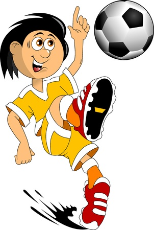 football kick: soccer design element, white background