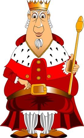 왕의 옷을 입은 남자의 그림 스톡 콘텐츠 - 22000322
