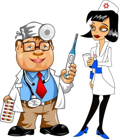 enfermera con cofia: joven enfermera que apunta el dedo índice hacia arriba, la información de guía aislados en fondo blanco