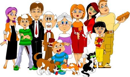 安息日を満たすために一緒に集まった大きな幸せな家族