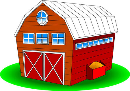 Farm design over background, vector and illustration Vector