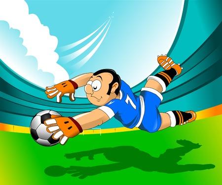 soccer design element, green background Ilustração