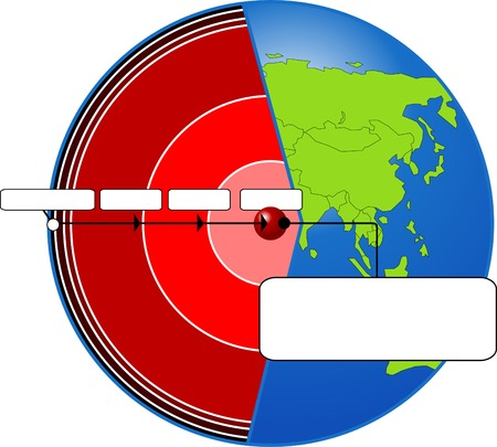 Figure planet in terms of different layers Vector