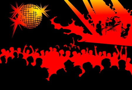 Abstract music background for music event design. vector illustration Vector