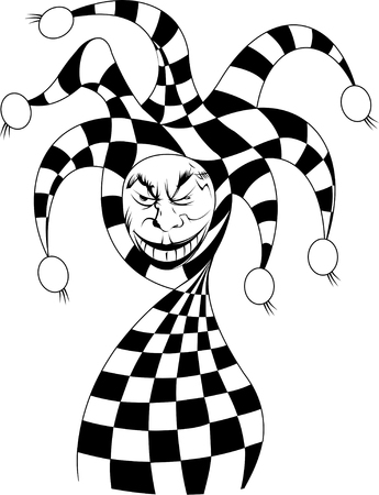 joker card: Joker game card with the image of the red and white joker Illustration