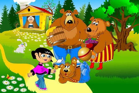 De familie van de beren. Vader, moeder en zoon vector