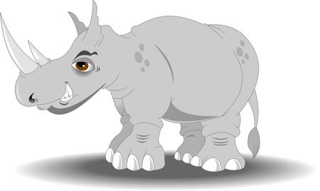 tusk: Very angry rhino with big horns