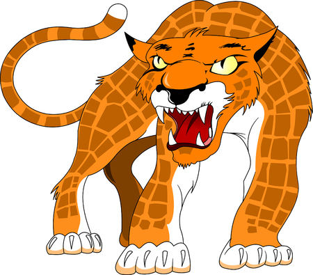 growl: Leopard spotty skin with angry growl