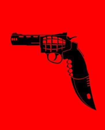 bayonet: gun, grenade, knife and cutter in one set