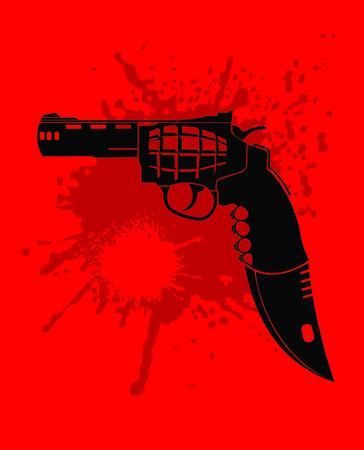 war crimes: gun, grenade, knife and cutter in one set