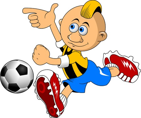 boys soccer: soccer design element, white background (vector-illustration)