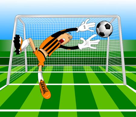 Soccer design element, green  background Illustration