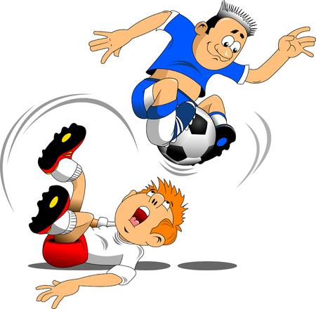 Soccer design element, white background, vector illustration