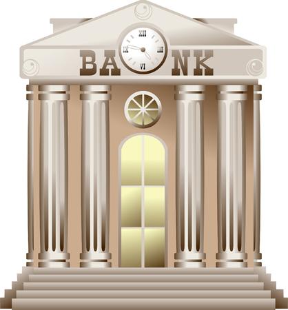 Bank building icon.