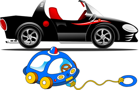Brandless car automobile vehicle concept, vector and illustration