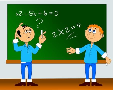 lo studente decide un'equazione molto complessa e molto semplice Vettoriali