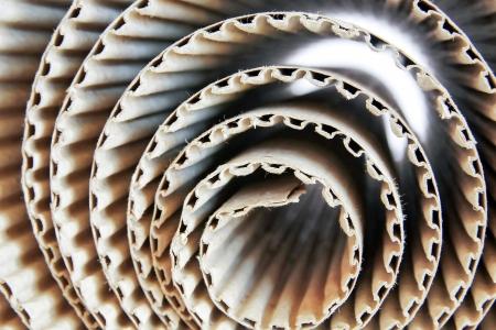 cardboard: Ondul�es des rouleaux de papier