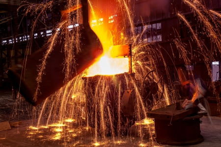 molten: Iron and steel industry