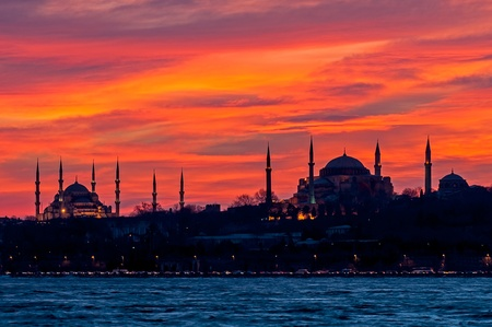blue mosque: Blue Mosque and Hagia Sophia