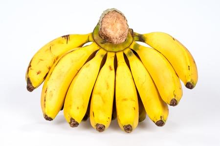 Banana on white background photo