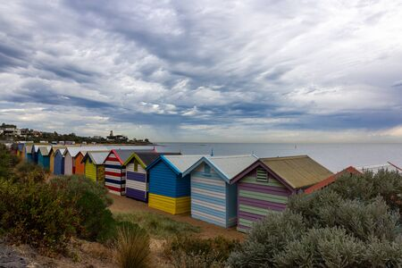 Beautiful Bathing houses at Brighton beach in Melbourne, Australia : 10042018