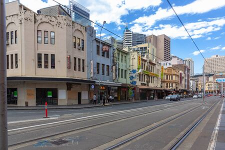 Sydney light rail stops at Paddys Markets.The Sydney light rail network is serving the Australian city of Sydney.