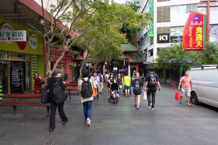 Tourist walk around Chinatown in Sydney It is Australias largest Chinatown