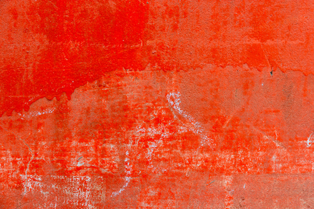 Old Red grunge cement  texture with crack,use as a background