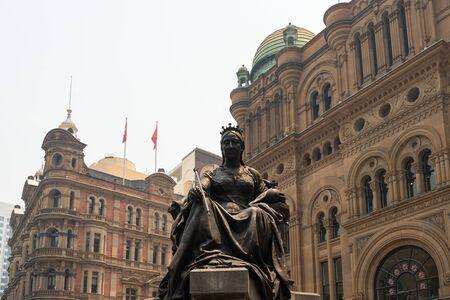 Statue of Queen Victoria in front of QVB (Queen Victoria Building), Sydney