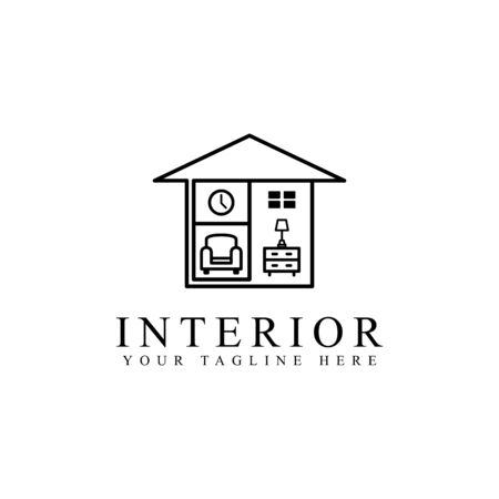 Habitación interior sencilla con muebles para el hogar.