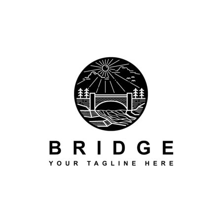 silhouette bridge logo on the outdoor hill