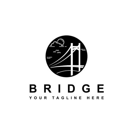 simple bridge symbol design vector template