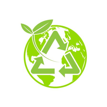 illustration of recycling natural environment