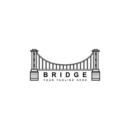 simple bridge logo vector design isolated white background