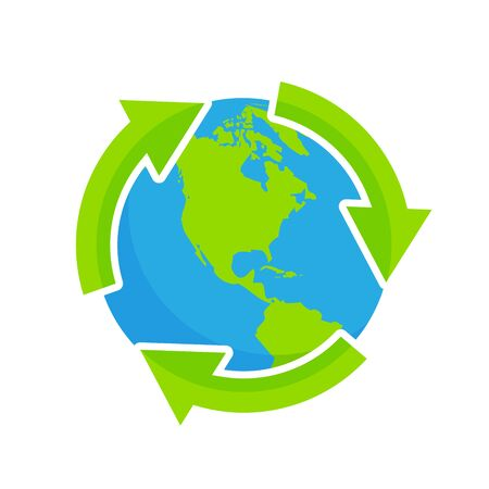 recycling natural environment and globe